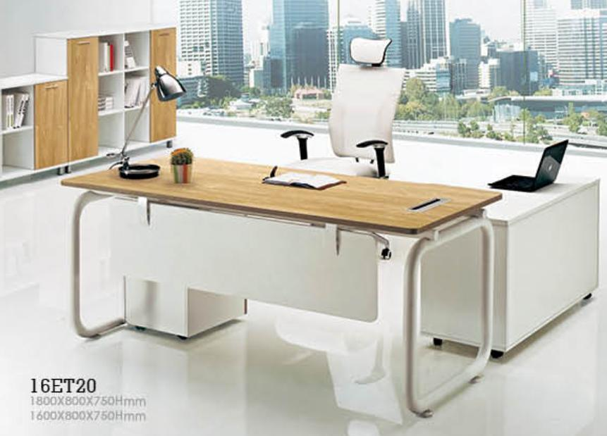 China Manager Desk With Pedestal 25mm Melamine Mfc Chipbaord Office