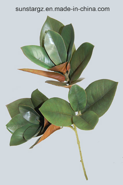 china pe magnolia leaves artificial plant for home decoration (50642