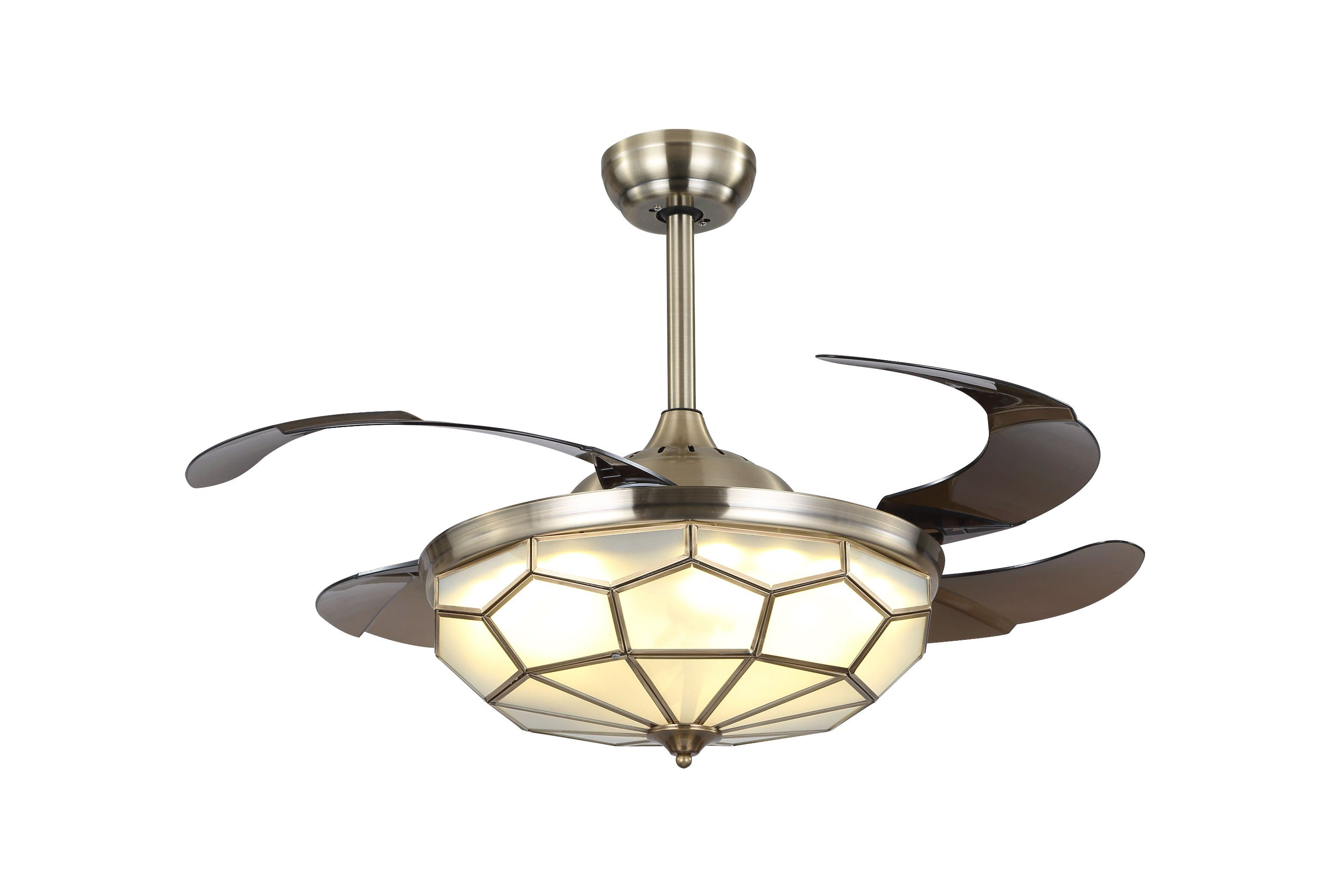 China mediterranean style ceiling fan light with hidden blades china ceiling fan ceiling fan with light