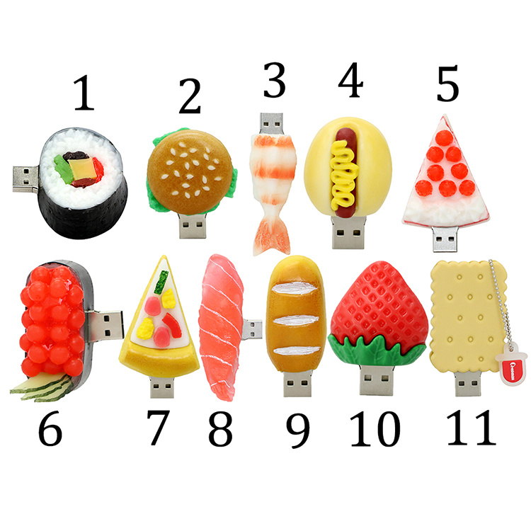 Food Shape PVC / Silicon / Rubber USB Flash Drive pictures & photos