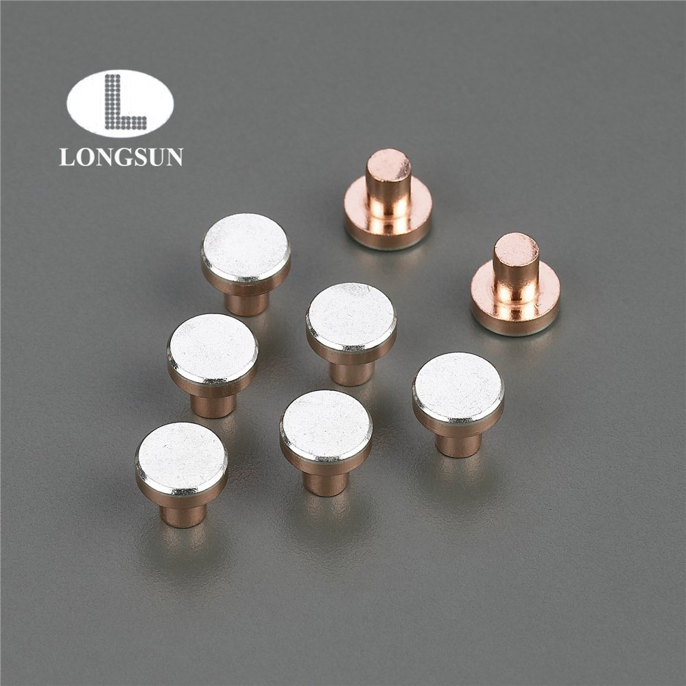 China Used In Electric Switch Relay Parts Factory Price Silver Of Copper Alloy Contact Rivet Material