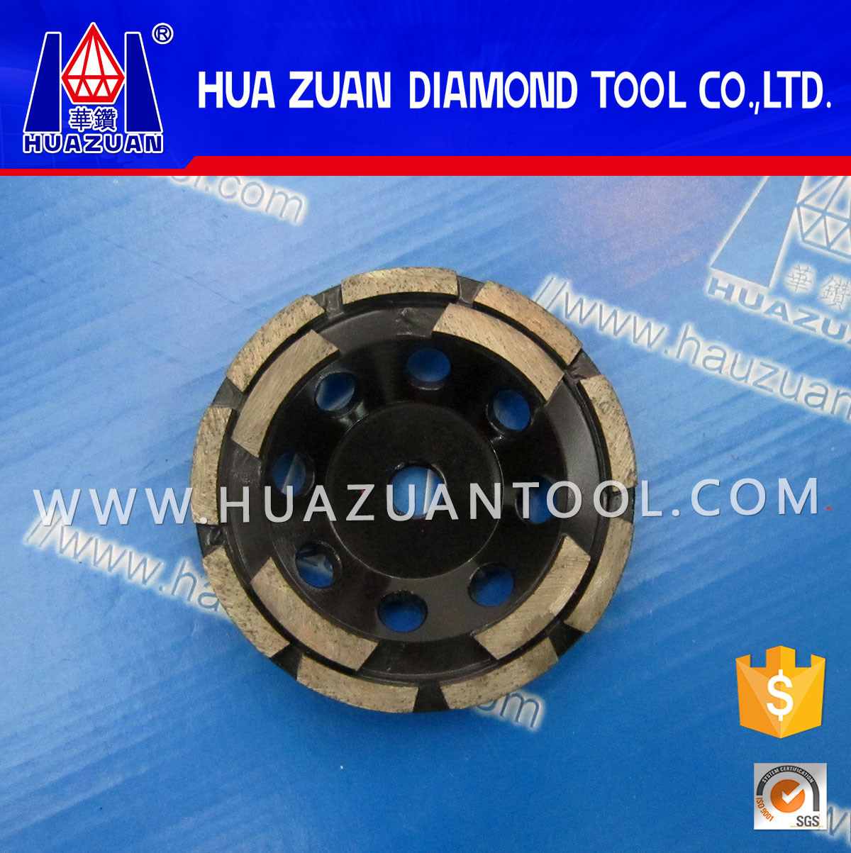 China Double Rows Cup Diamond Grinding Wheel For Ceramic Tile