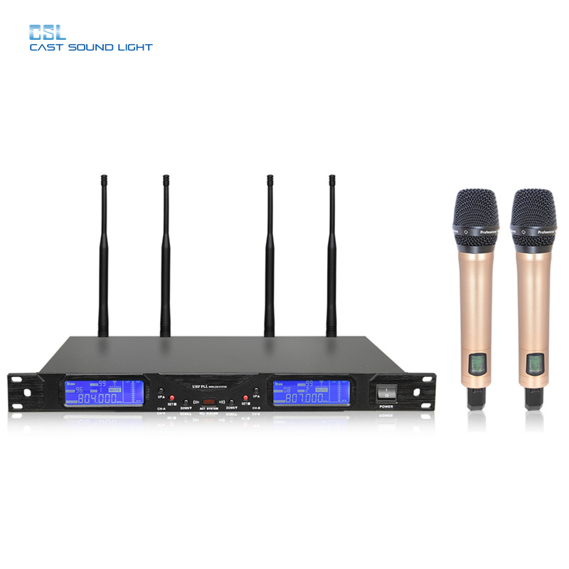 Professional Stage System 4 Antenna True Diversity UHF Wireless Microphone pictures & photos
