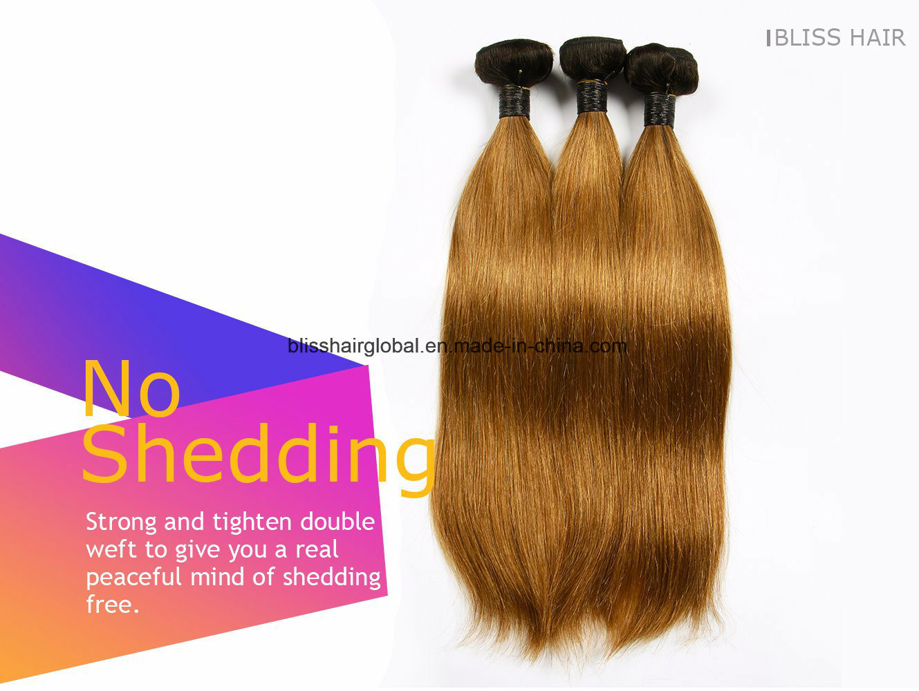 Brazilian Virgin Hair Ot1b-30# Silky Straight 100gram pictures & photos