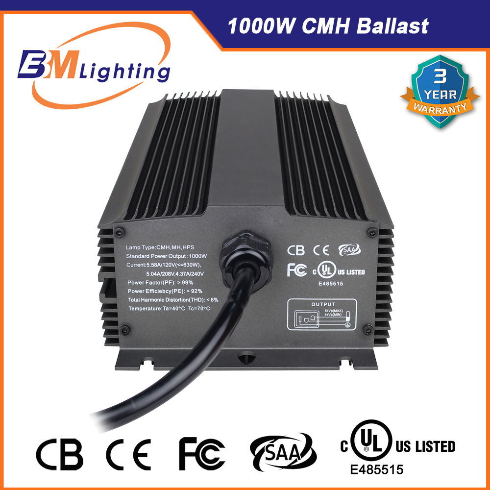 Horticultural Grow Light System 1000W CMH Grow Light Electronic Ballast pictures & photos