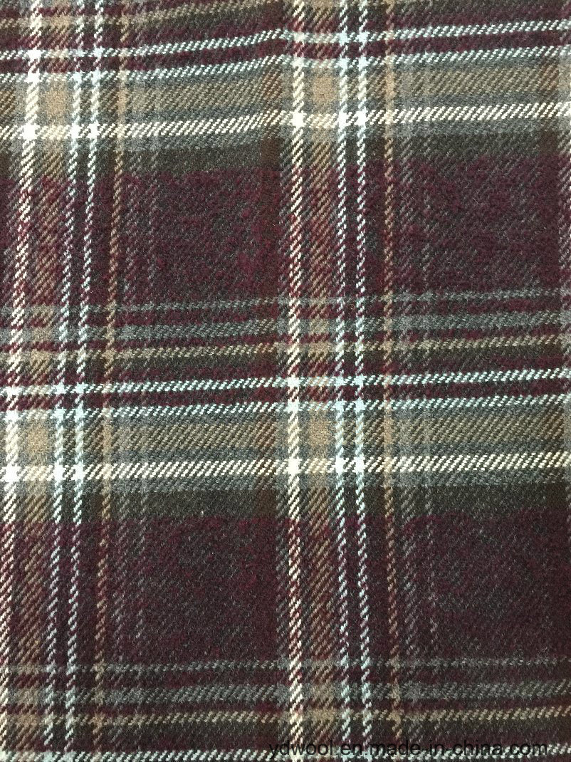 Stock Wool Fabric Check Korea Style