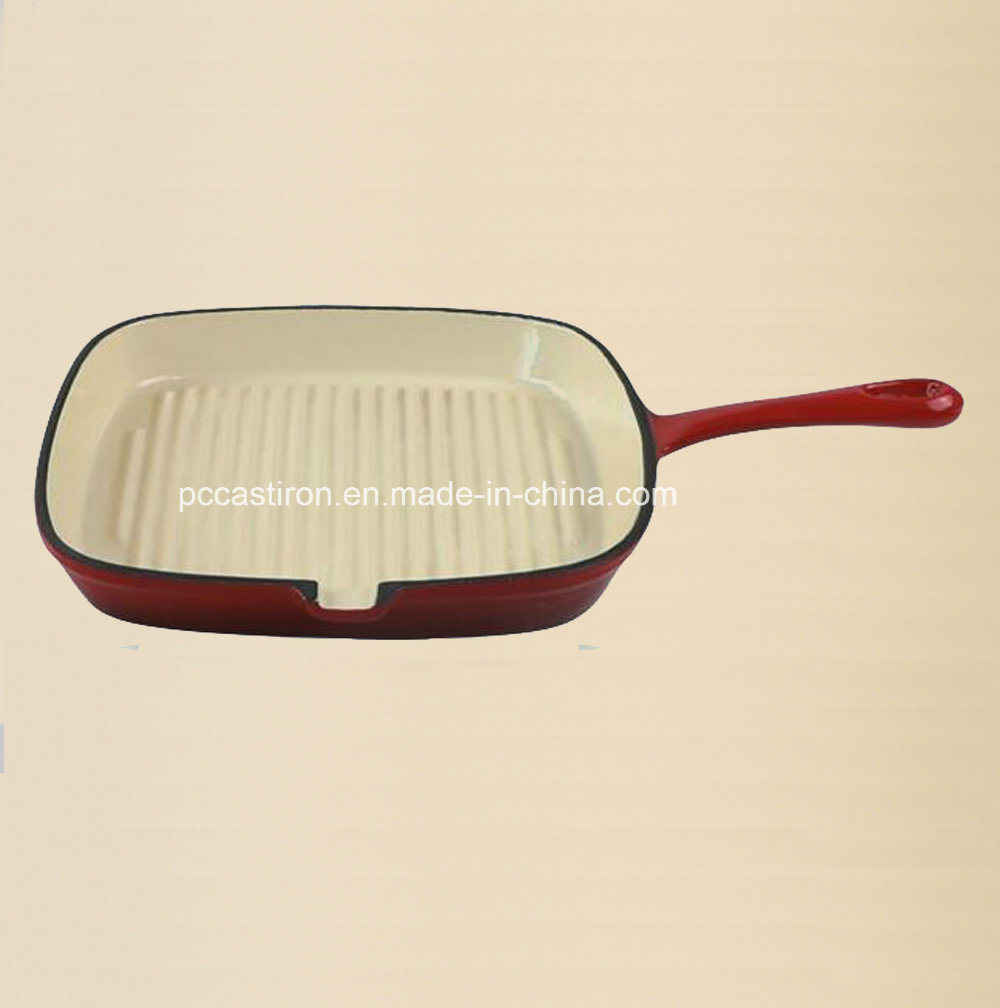 24cm Cast Iron Frying Pan with LFGB, FDA, Ce, ISO Certificate pictures & photos