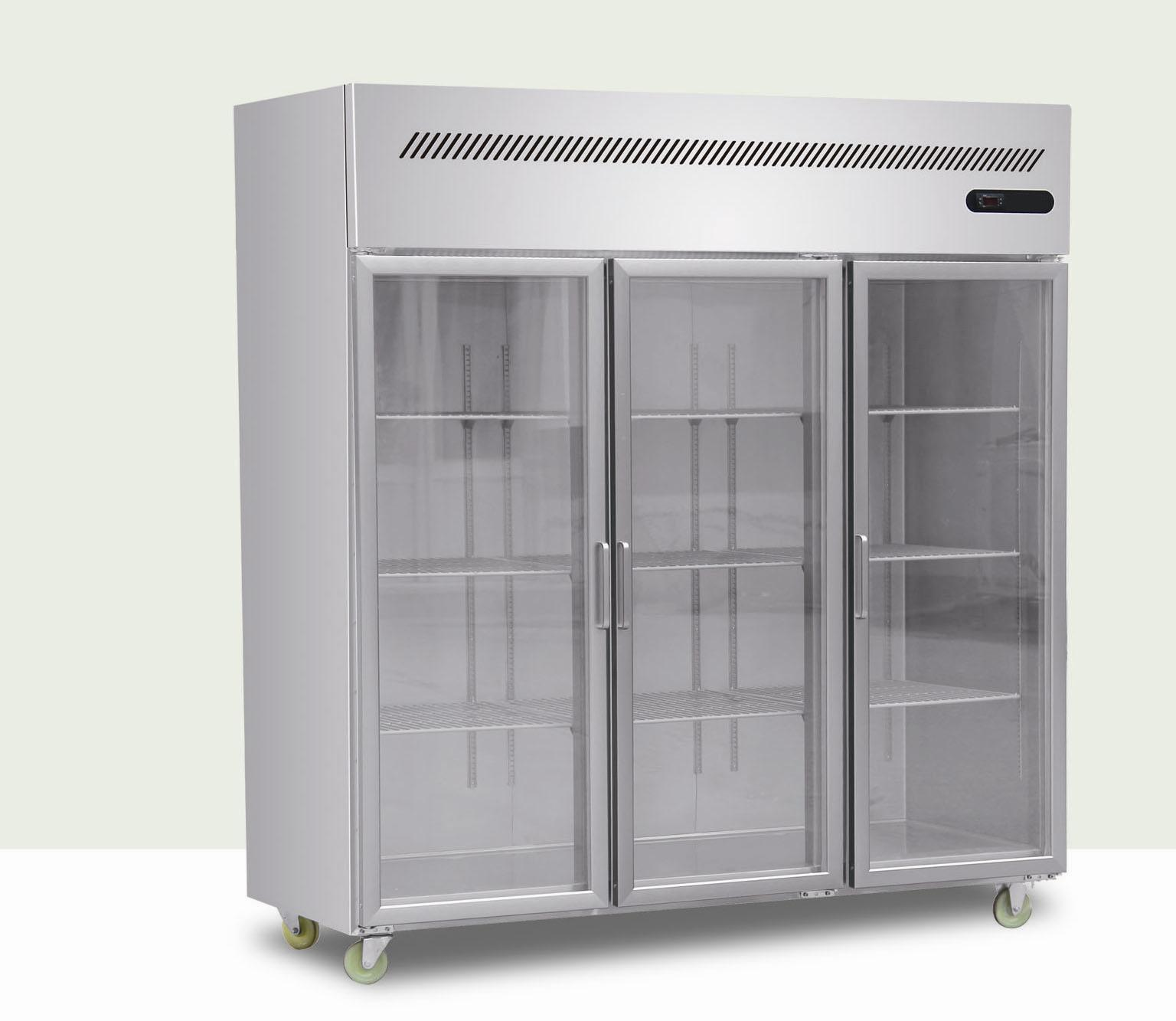 China upright freezer with glass door china three glass door refrigerator stainless steel - Glass door refrigerator freezer ...