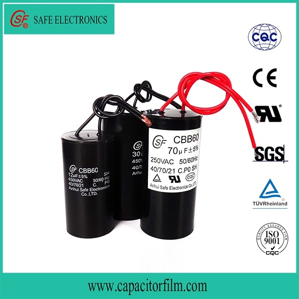 High Quality AC Motor Cbb60 Capacitor