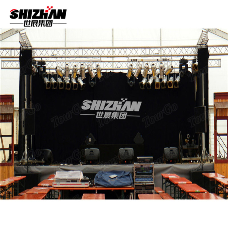 Outdoor Aluminum Concert Stage Curved Roof Truss
