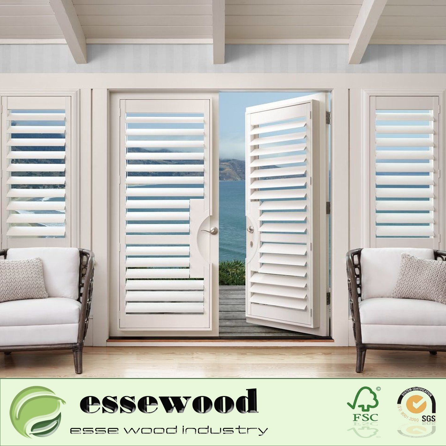 Hot Item Interior Sliding Plantation Shutter Decorative Pvc Plantation Bi Fold Window Louvered Shutters