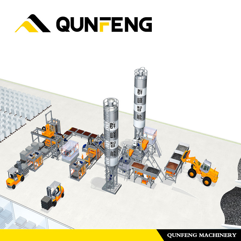 European Quality Full Automatic Concrete Block Making Machine, Fully Automatic Cement Concrete Hollow Block/Brick Making Machine (top grade) pictures & photos