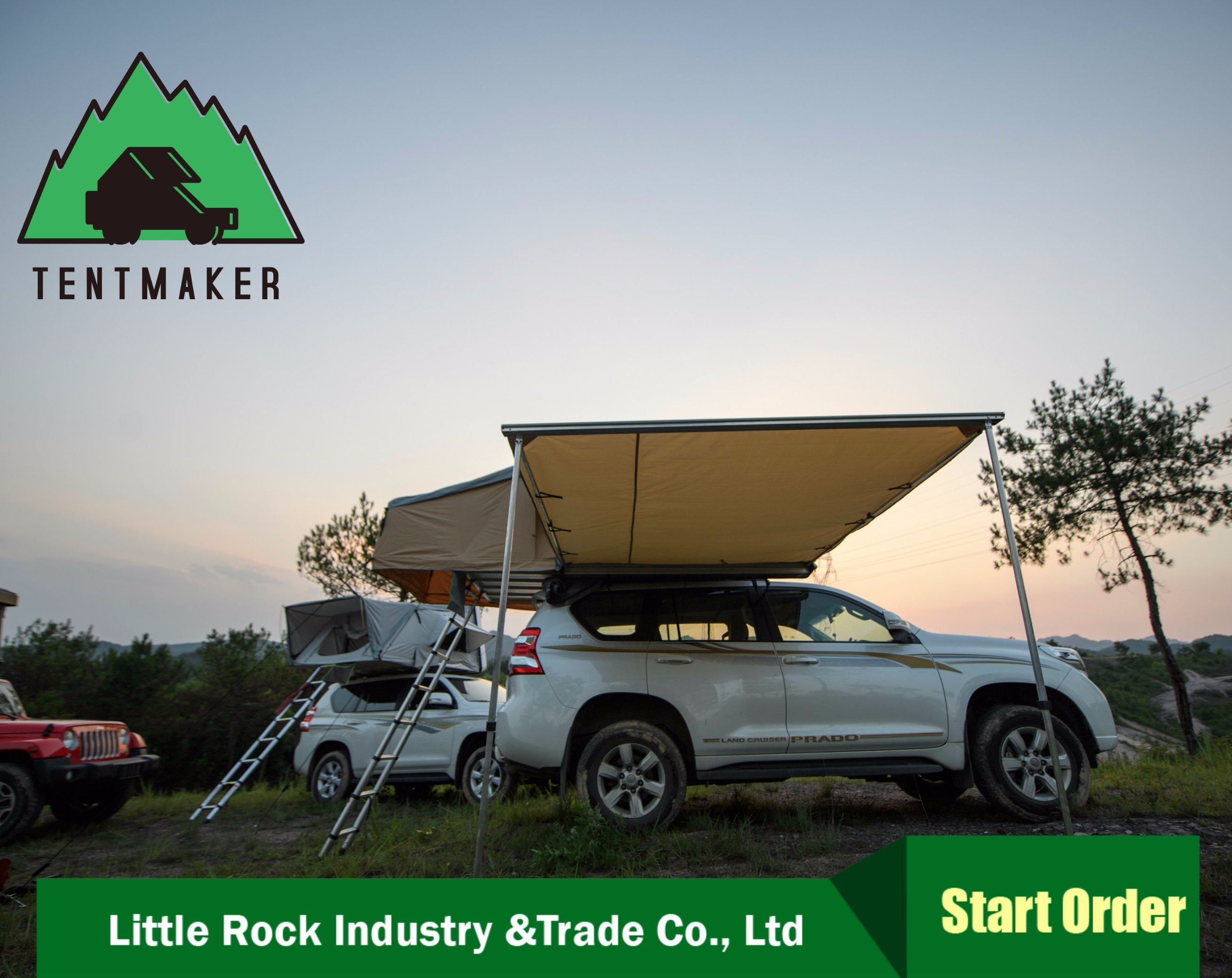 4Wd Awning Tent [hot item] high quality 4wd side retractable uv waterproof car awning tent