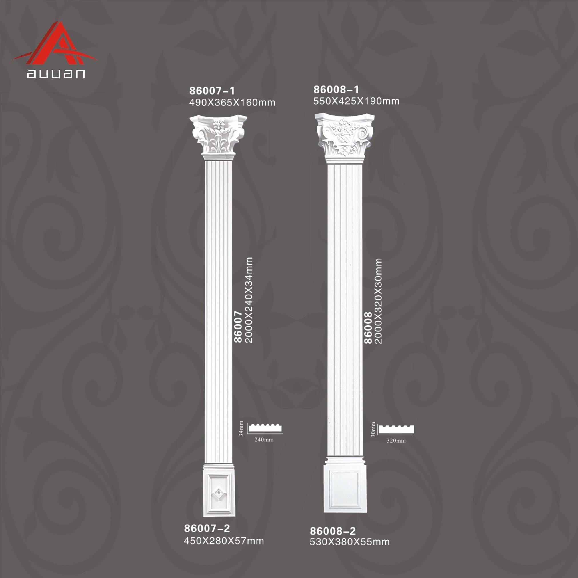 China 86008 Polyurethane Hollow Square Roman Pillar For Home Design