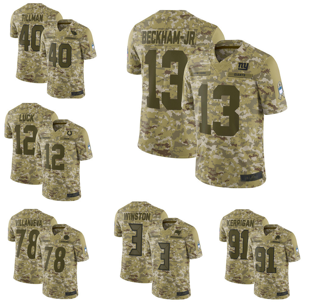 timeless design f3bf3 5f7d7 China Odell Beckham Jr. Ryan Kerrigan Camo Salute to Service ...