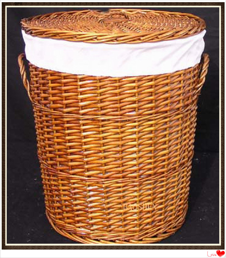 China Willow Storage Basket With Handle Wicker