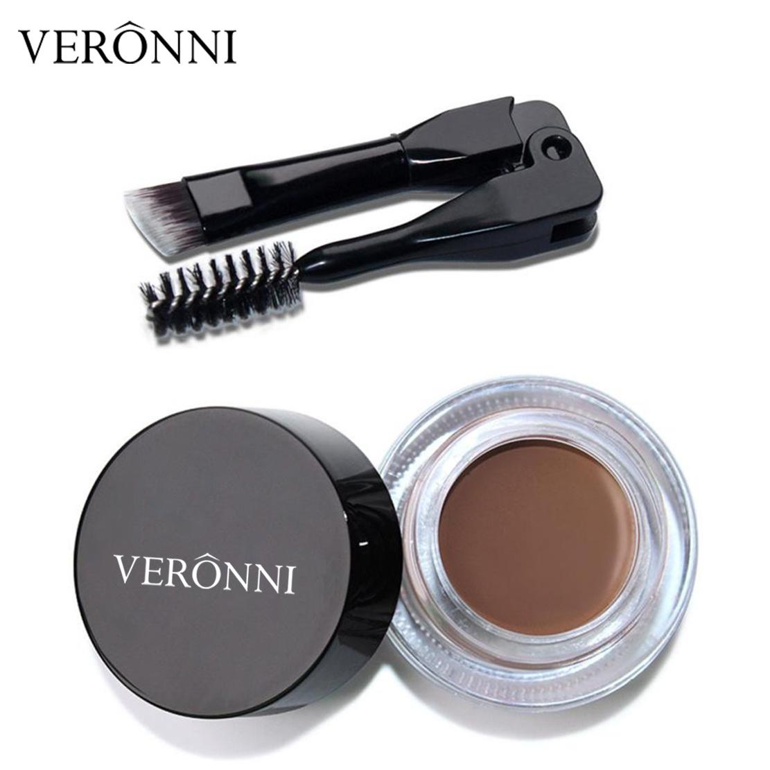 0027bc94b248 [Hot Item] 8 Colors Eye Brow Cream Tint Makeup Tool Kit Long Lasting  Waterproof Eyebrow Gel with Brow Brush Cosmetic Set