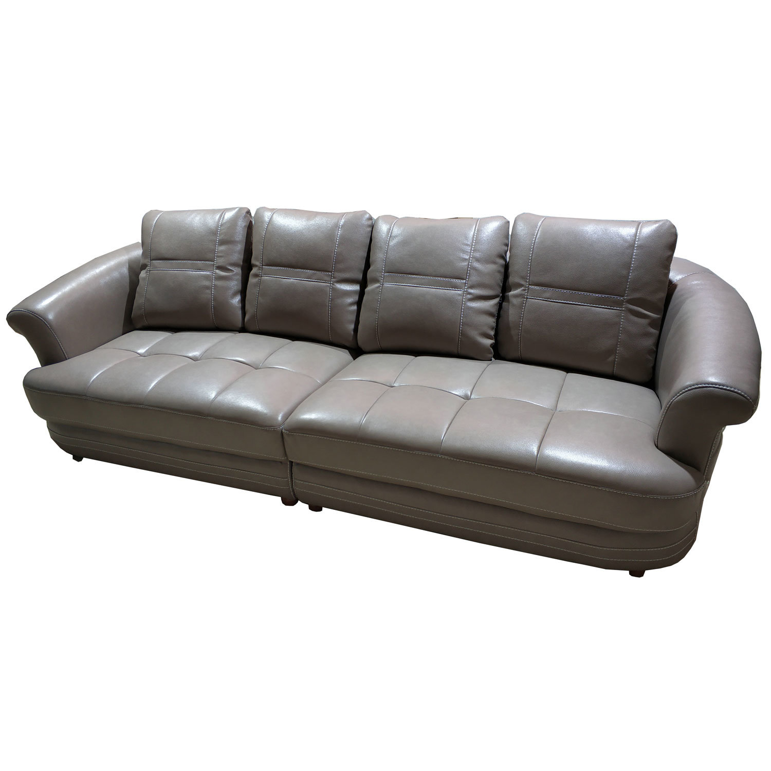 [Hot Item] I Shape 4 Seater Top Grain Genuine Leather Couch Sofa (8056#)
