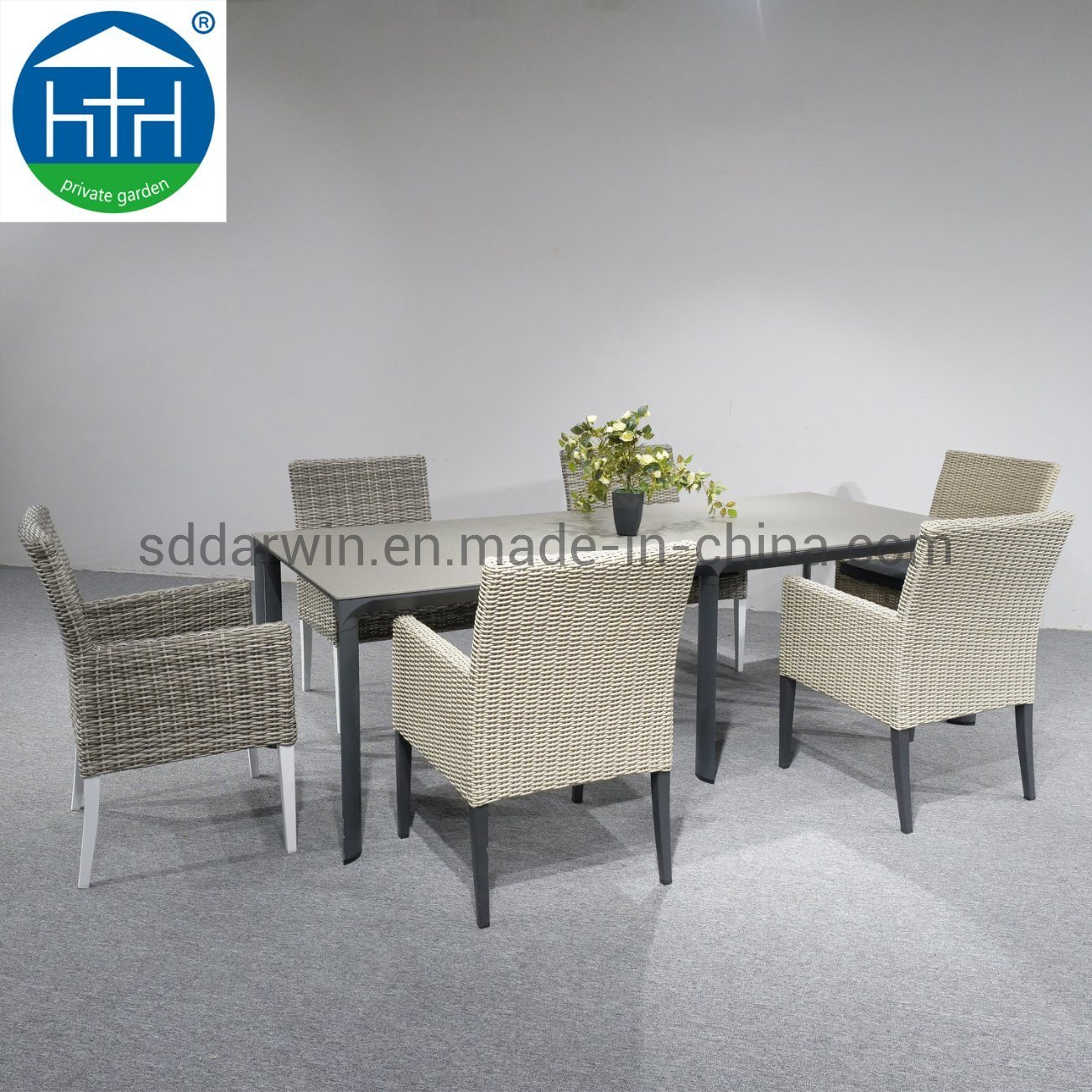 Hot Item Elegant Design Table And Chair Garden Rattan Wicker Patio Furniture Outdoor Dining Set