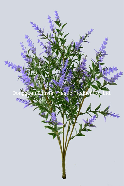 China Plastic Pe Lavender Bush Artificial Plant For Decoration