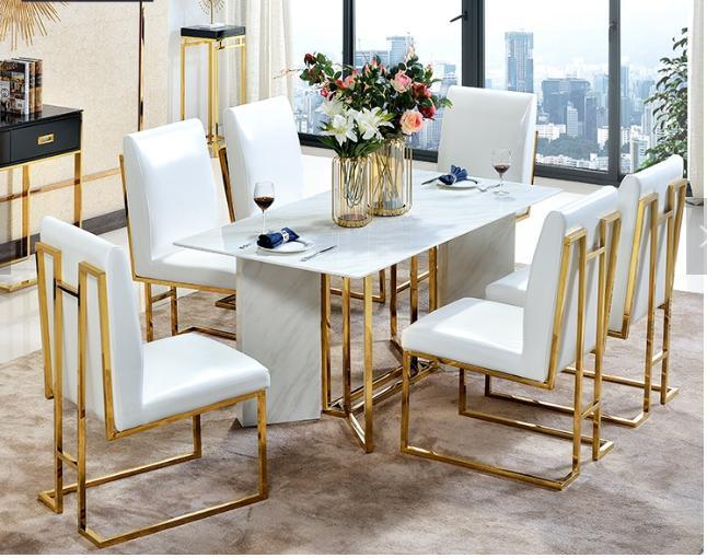 China Stainless Steel Marble Dining, Modern Dining Room Set