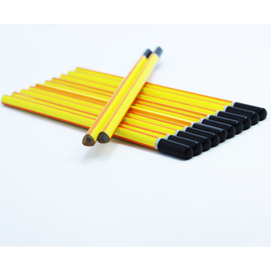 Triangle Pencils Hb with Stripe Painting, with DIP End (3612) pictures & photos