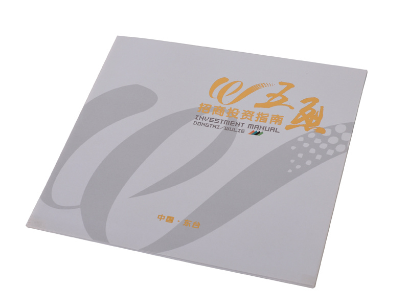 China 2015 New Design Gate Fold Brochure with Oil Varnished