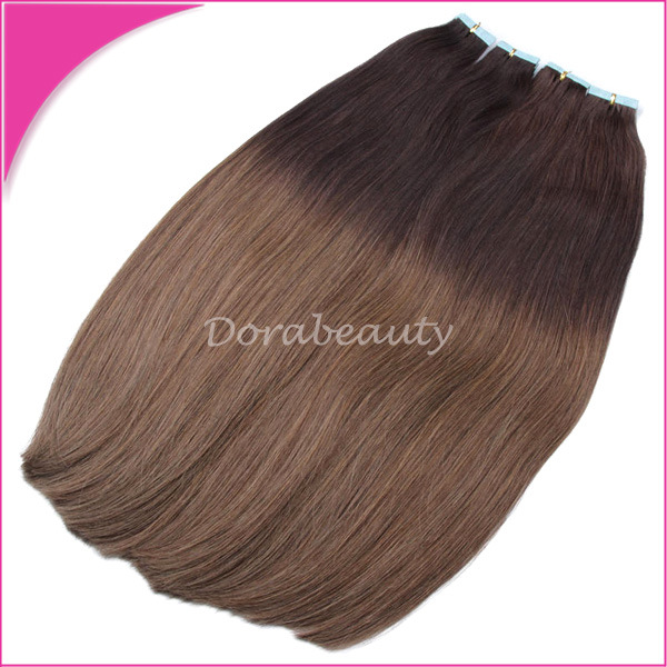 China Wholesale Indian Remy Hair Double Drawn Tape In Human Hair