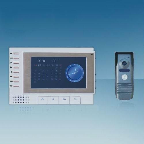 China 7 Inch Color Video Door Phone Intercom System Video Door Entry