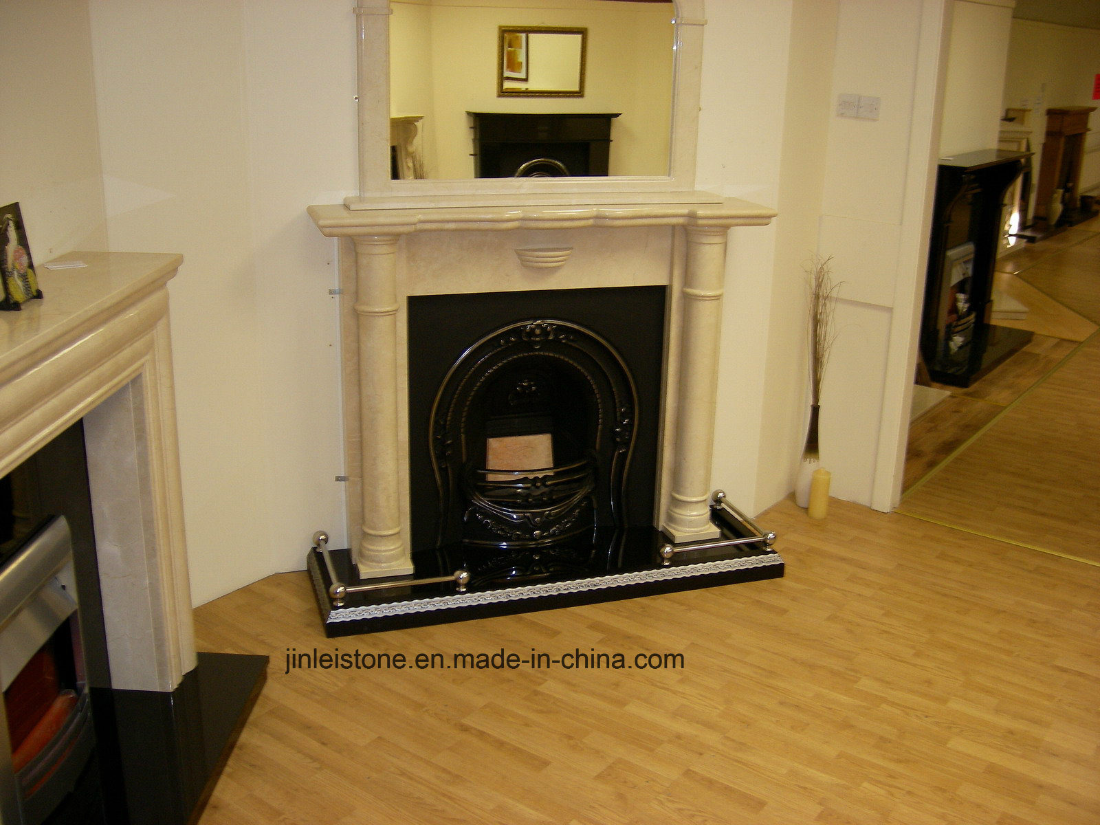 China Marble Granite French Style Fireplace Mantel With Modern