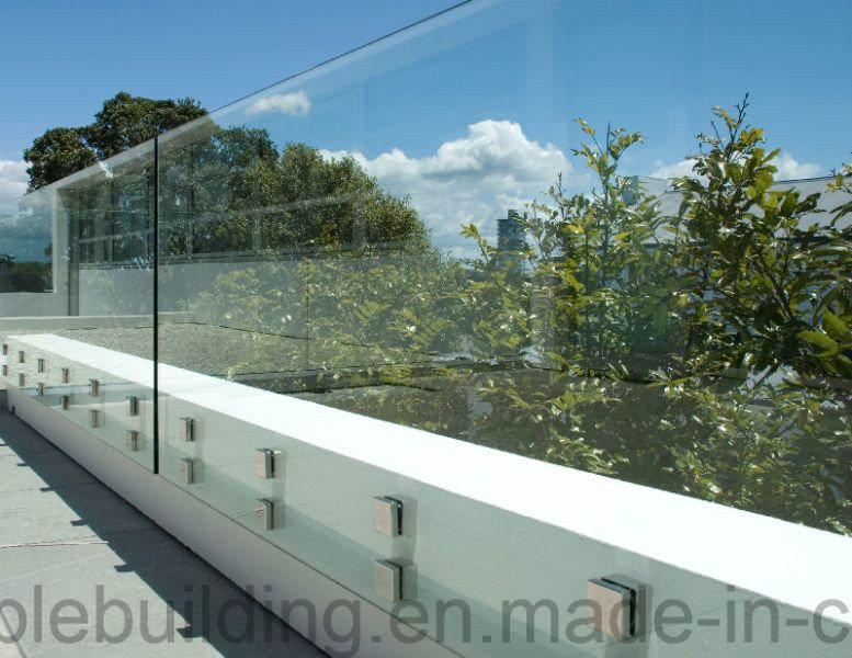 Outdoor Porch Glass Railing with Stainless Steel Glass Clamp pictures & photos