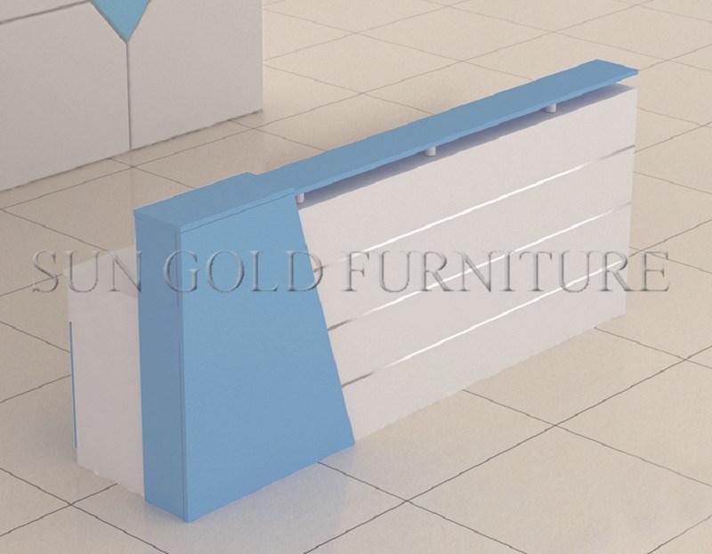 china contemporary small reception counter front office desk design