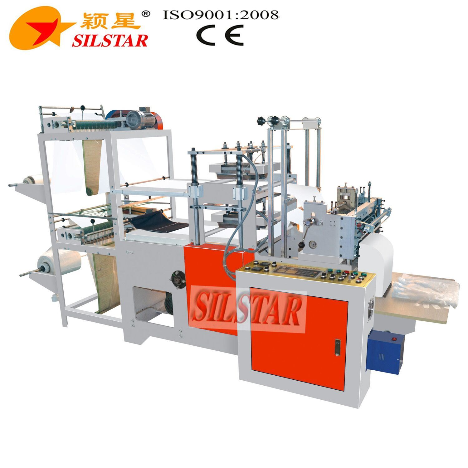 Double Lines Plastic Glove Making Machine (GBA-500 II) pictures & photos