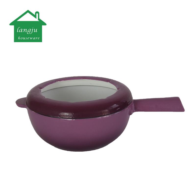 Hot Item Cast Iron Cheese Fondue Pot Set