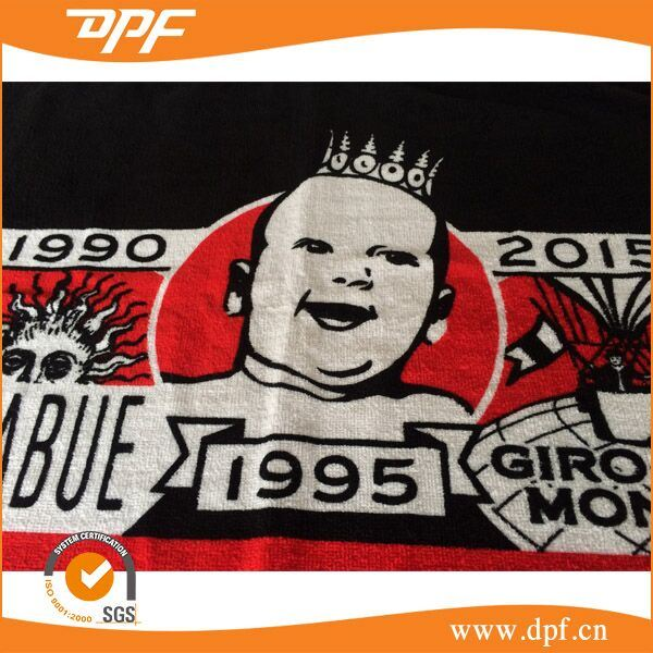 Promotional Wholesaler Custom Reactive Printed Beach Towel