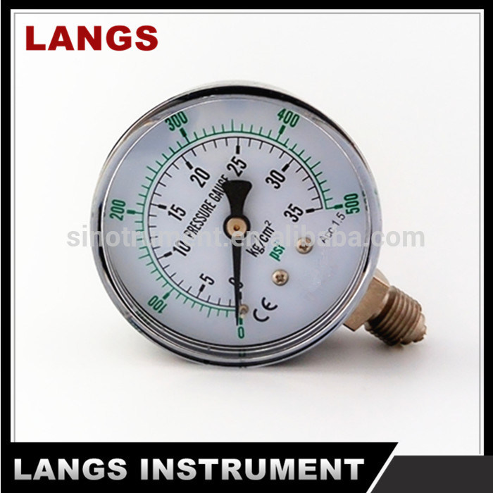 047 40mm, 50mm, 63mm Black Steel Bottom Manometer