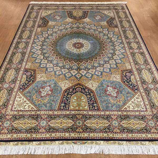 Hand Knotted Oriental Silk Persian Rugs