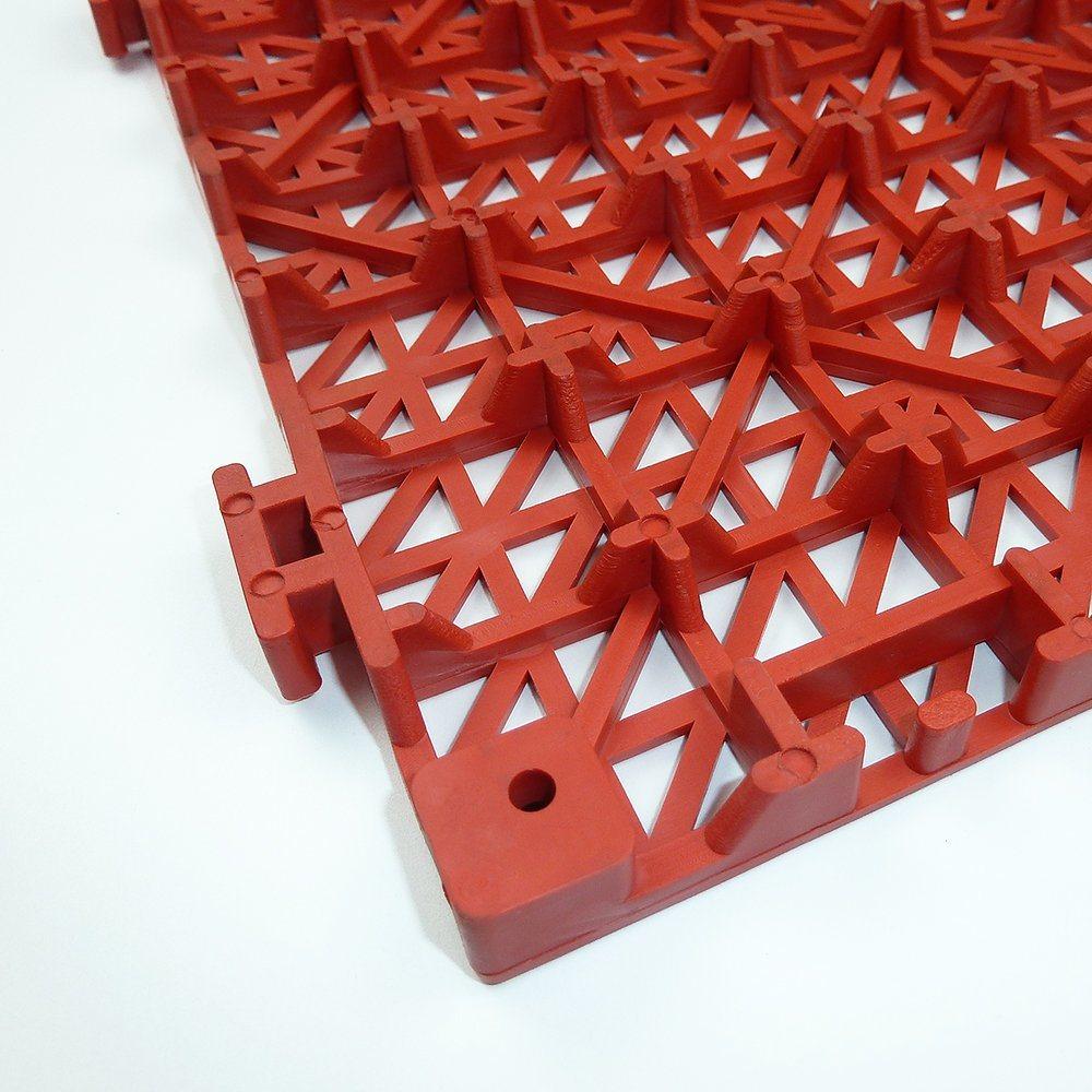 China Fashinable Grid Drainage Bathroom Interlocking Plastic Floor