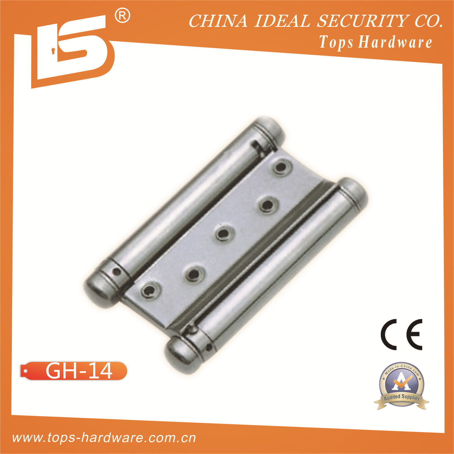 Hydraulic Door Closer Hinge for Double Swing Door (GH-14)  sc 1 st  Wenzhou Tops Hardware Co. Ltd. & China Hydraulic Door Closer Hinge for Double Swing Door (GH-14 ...