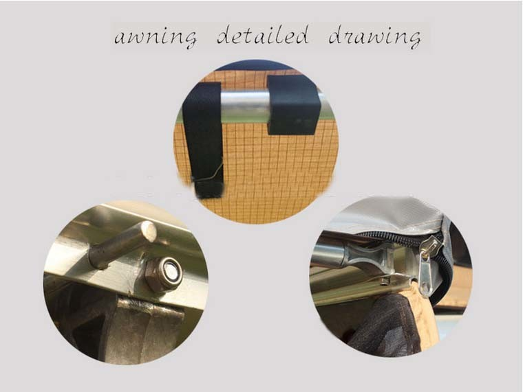 Metal Brackets Retractable Folding Awning for Caravan pictures & photos