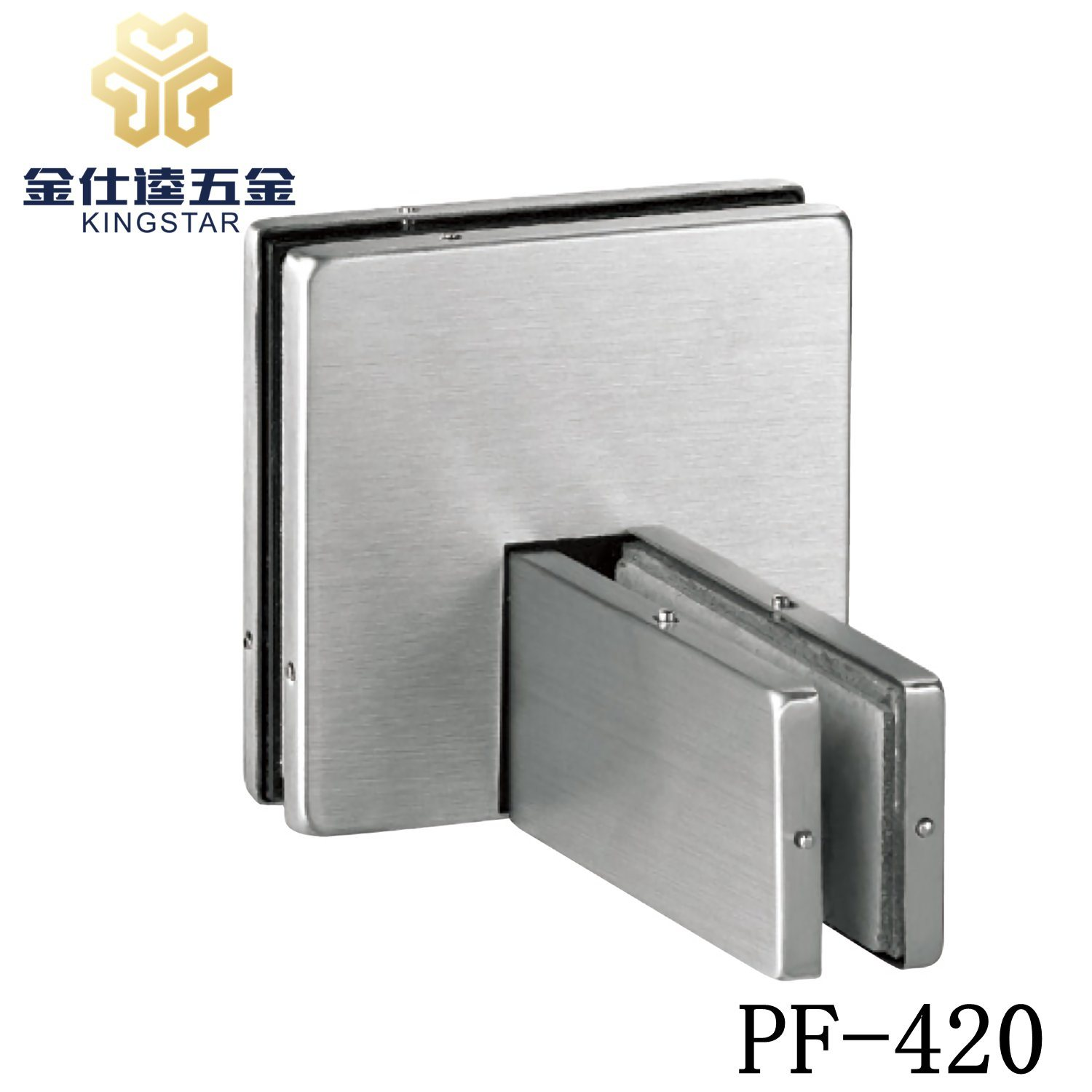 China Frameless Stainless Steel Glass Door Panel Patch Fitting Glass