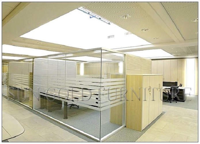 China Modern Cheap Glass Barrier Low Used Office Room Dividers SZ