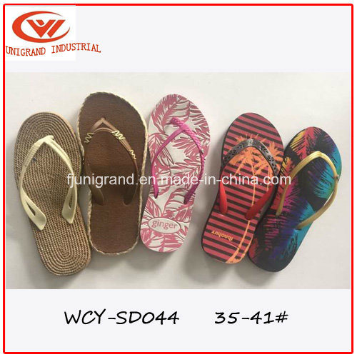 d587431b7331bb China Summer Beach Slipper Women Outdoor Sandals with TPR Sole - China  Sandals