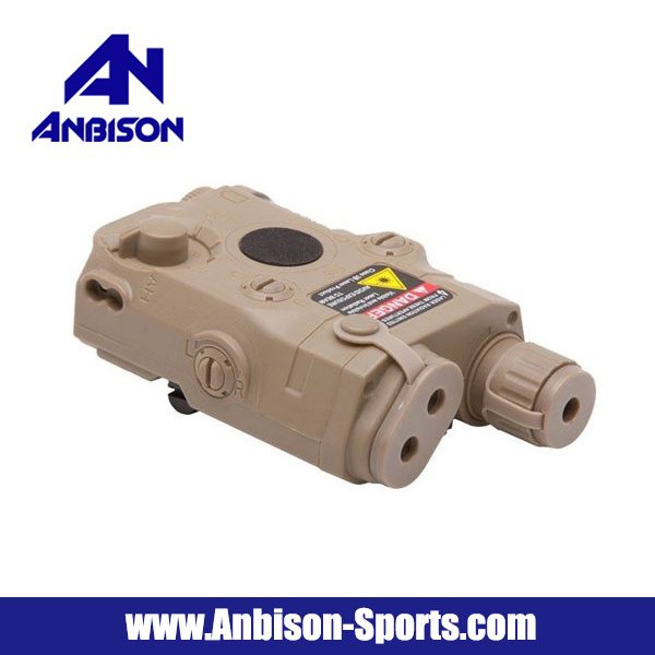 Anbison-Sports Airsoft Peq-15 Battery Case with Red Laser Pointer