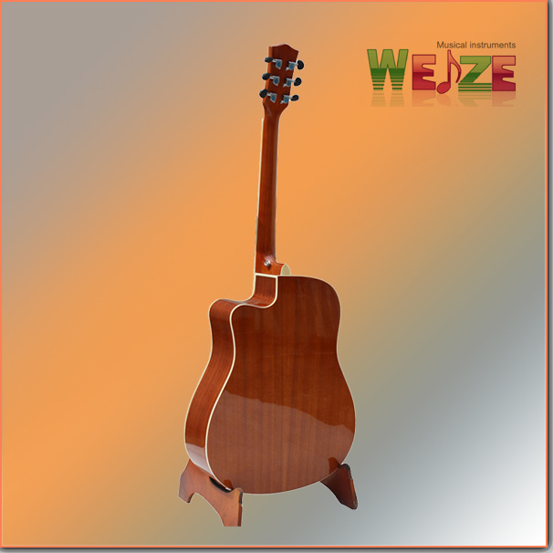 "41"" Cutaway High Quality Spruce Top Sapele Back Acoustic Guitar"