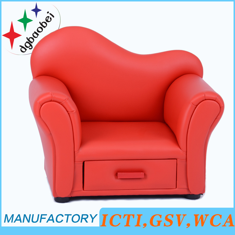 China Pvc Leather Kids Sofa With Storage Funcation Furniture