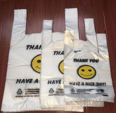 Chinese Factory Printed Plastic HDPE T-Shirt Bag /Vest Bag/Flat Bags on Roll