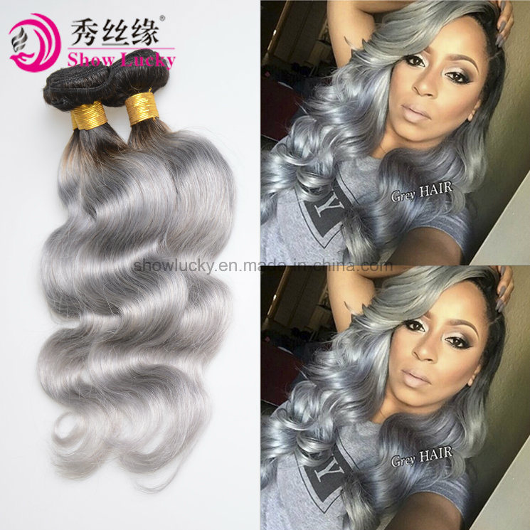 China Fashionable Style 100 Two Tone Peruvian Hair Weft Ombre