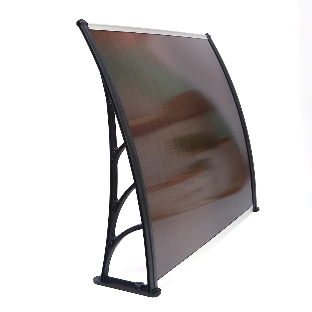 Outdoor Brown Polycarbonate Rain Canopy Door and Window Awning