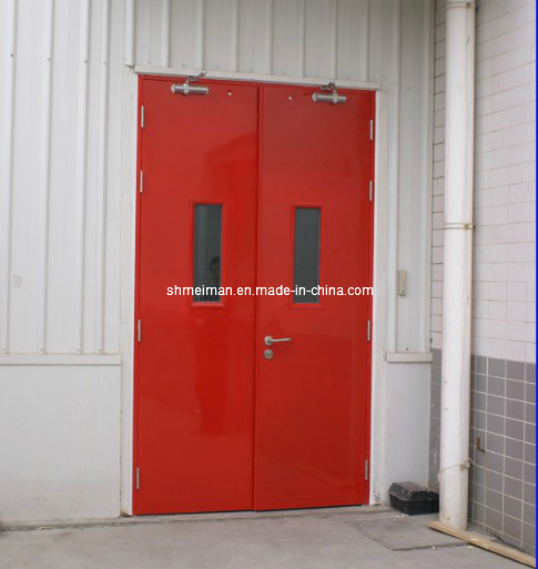 China Ul Certified Industry Security Interior Fire Rated Exit Doors